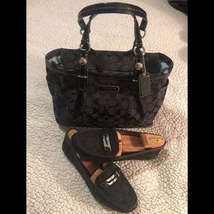Coach Signature Gallery Tote & Coach Loafers
